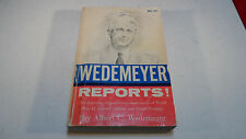 WWII GENERAL WEDEMEYER REPORTS BOOK SIGNED Endorsed to Donald Nelson