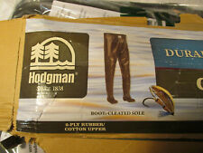 HODGMAN WADERS RUBBER BOOTS COTTON UPPER DURABLE mens size 7 CASTER POCKET BROWN