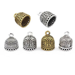 10x Tibetan Silver Gold Pendants Tassel End Caps Beads Connector Jewelry Making