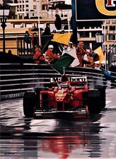 Michael Schumacher 76x57cms limited edition F1 art print by Colin Carter