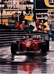 Michael Schumacher 76x57cms limited edition F1 art print by Colin Carter