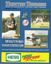 2006 Trenton Thunder New York Yankees AA Club Official Program MILB MLB Stars