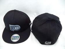 Philadelphia Flyers Reebok NHL CCM Black Flat Brim Fitted 7 1/4 - 7 5/8 L/XL Ha