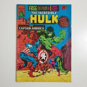 Newton Comics Incredible Hulk #3 1975 With Poster - Australian - Magazine Size