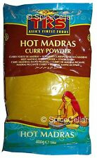 Madras Curry Powder - Hot - 1 x 400g Bags - TRS Brand