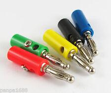 5pcs Free Solder 4mm Banana Plug Audio Speaker Power Test Connector 5 colors