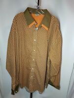 Lacoste Mens Geomettic Print Long Sleeve Button Front Shirt SIZE  5XL
