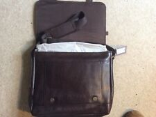 M & S Marks And Spencer  Leather Satchel Men's Bag Brown BNWT RRP £99