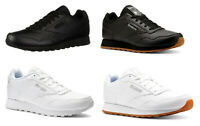 Reebok Harman Black, White, Gum Leather Sneakers Trainers Tennis Shoes