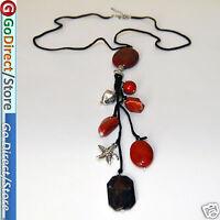 "23.6"" Red Jasper Pendant Fashion Necklace with Extendable Chain Jasper gemestone"