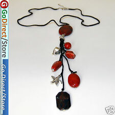 "23.6"" Red Jasper Pendant Fashion Necklace with Extendable Chain Jasper gemestone"