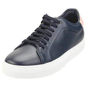 Paul Smith Basso Mens Navy Pink Casual Trainers - 8 UK