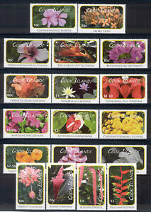 Cook Islands - 18 MNH 2010 Flower stamps #1305-22 with a cv 85.85 Lot #264