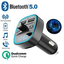 Car Cigar-Plug Bluetooth FM Transmitter MP3 Player Radio Adapter USB Charger Kit