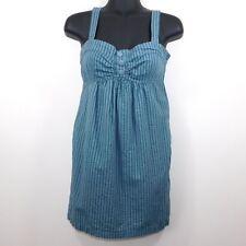 Twenty One Womens Sleeveless Blue Striped Tunic Top, Small S