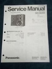Technics Service Manual~SB-D6000 Speaker System~Original Repair