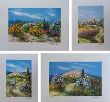 Belvisi Marcel: Provence - 4 Lithographs Original Signed And Numbered