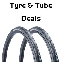 "26"" x 1.50"" Slick Tyre Vandorm Cyclone Fast MTB Mountain Bike Tyre Tube Deals"