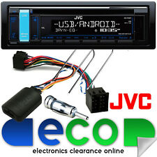 PEUGEOT 206 2002-10 JVC CD mp3 USB AUX STEREO AUTO & Volante Interfaccia Kit