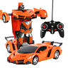 Car Rc Robot Control Transformer 2 in 1 Sports Driving Toy Remote Kids Best Gift