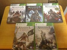 Assassin's Creed Brotherhood, Revel., II, III & Black Flag - Xbox 360 - 3 New