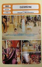 US Epic Drama Cleopatra Elisabeth Taylor Rex Harrison French Film Trade Card