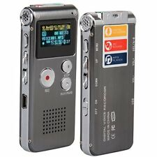 8GB LCD 650Hr Digital Audio Recorder Dictaphone MP3 Rechargeable Spy L3