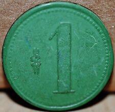 CHILE TOKEN Compañia Salitrera El Penon  $1 (green/green) Oficina San Gregorio