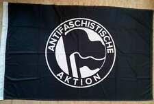 ANTIFASCHISTISCHE AKTION FLAGGE (Schwarz/SONDERPREIS)