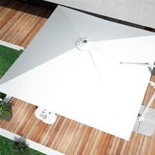 Telo ricambio ombrellone bianco LED 3x3 in poliestere idrorepellente