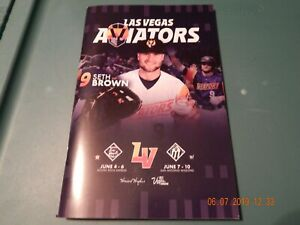 LAS VEGAS AVIATORS MILB AAA OAKLAND ATHLETICS BASEBALL PROGRAM DATES JUNE 4-10