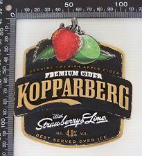 OLD DRAUGHT BEER TAP HEAD KOPPARBERG PREMIUM CIDER STRAWBERRY LIME BADGE BAR PUB
