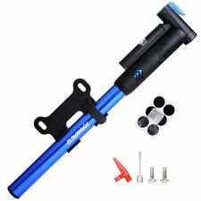 Mini Bike Pump, 120PSI Portable Bicycle Frame Pump w/ Gauge Lightweight