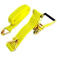 """TWO New 2"""" x 27' 10,000lb Ratchet Straps J Hook Ratcheting Tie Down HEAVY DUTY"""
