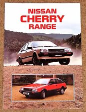 1985 NISSAN CHERRY Sales Brochure -Turbo ZX SGL GS -Unread Brand New Old Stock!!