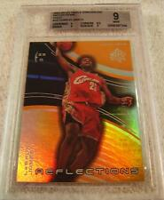 LEBRON JAMES 2003 UD TRIPLE DIMENSIONS GOLD REFRACTOR ROOKIE SERIAL #13/50 BGS 9
