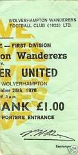 Manchester United Football League Fixture Tickets & Stubs (Pre-1992)
