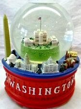 "Washington Dc-White House-Musical-Lighted Snow Globe-Plays ""God Bless America"""
