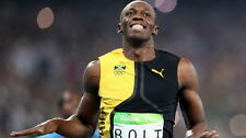 "050 Usain Bolt - 100 m Running Jamaica Game Champion Olympic 42""x24"" Poster"