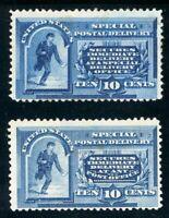 USAstamps Unused FVF US 1885-8 Special Delivery Set Scott E1 & E2 OG MHR