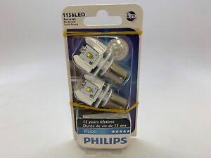 OPEN BOX 1156 Philips WHITE LED  Back Up Light Bulb 2 Bulbs 12898B2 MC163