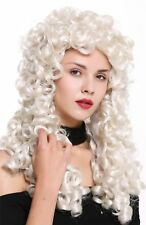 Perruque Femme Hommes Baroque Renaissance Noble Long Boucles Bouclé Blancblond