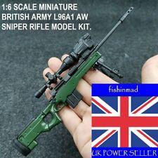 1:6 MINIATURE FIREARM COLLECTORS BRITISH ARMY L96A1 AW SNIPER RIFLE MODEL KIT