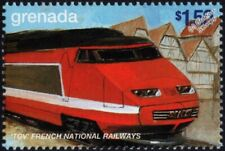 SNCF Train à Grande Vitesse (High Speed Train) TGV Paris-Lyons Train Stamp #2