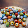 100Pcs Beads Ceramic Porcelain For Jewelry Making Colorful 6mm Vintage Charms