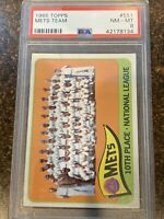 1965 Topps Mets #551 Baseball Card PSA 8. Great Card. Nice Centering.  Wow!
