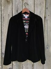 Exclusively Misook Black Velvet One Button Blazer Jacket Fully Lined 6569⭐️