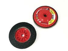 4 1/2″ × 5/8″-11 80 Grit Z3 Xl Compact Trimmable Flap Disc Camel 30145 Qt:10