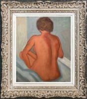 FRANCOIS BESSON (1904-1987) PEINTURE FAUVISTE SUPERBE NU FEMININ (63)