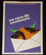 """1972 Original Cuban Movie Poster""""Conscience""""ItalianGianni Grimaldi  art film"""